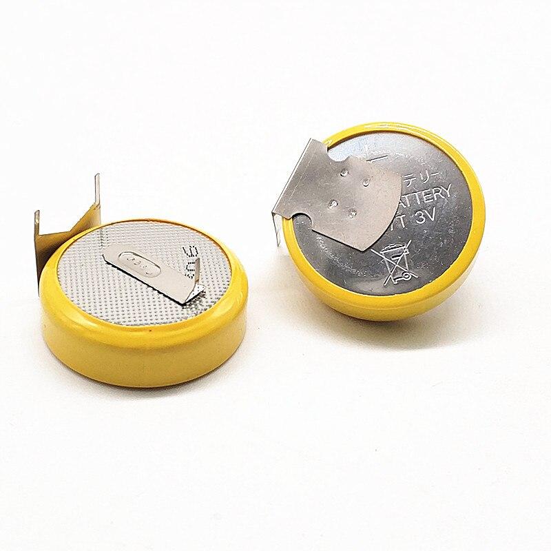 1pcs CR2477 panela de arroz 3V bateria da tecla da bateria H tipo horizontal com pé de solda