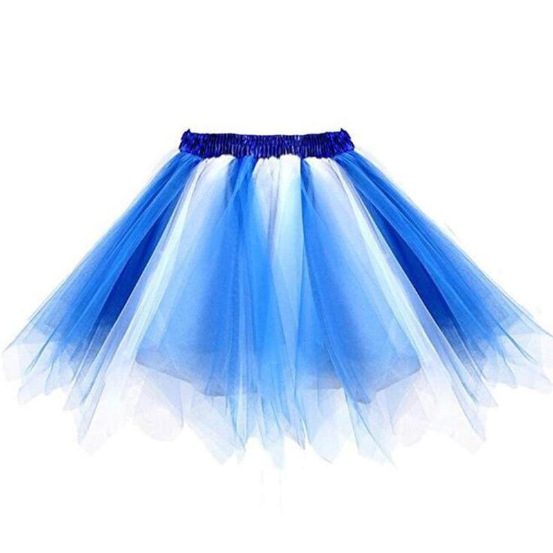 2020 falda de las mujeres Arco Iris Tutu elástico Ballet Dancewear tutus Mini falda del tutú Hada Verde azul Rosa tul falda madre hija