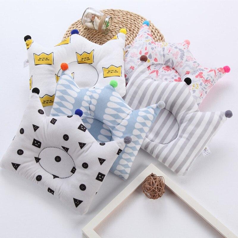Travesseiro de enfermagem do bebê recém-nascido sono apoio evitar anti rolo travesseiro cabeça plana pescoço infantil algodão almofada crianças quarto decoração