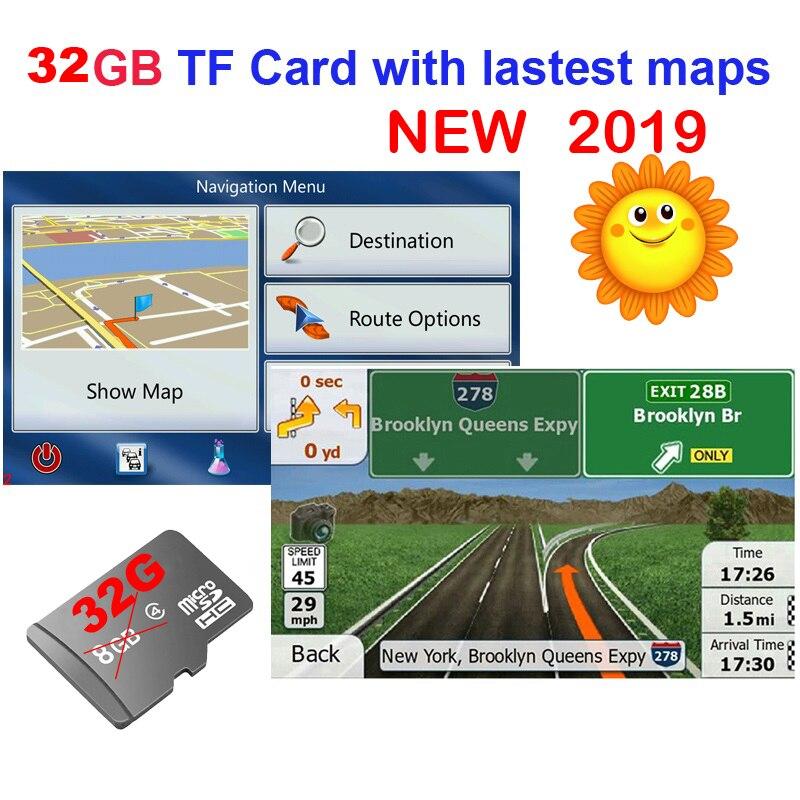 GPS Аксессуары 32G gps карты sd карты 2019 последняя карта для автомобиля WinCE gps навигационная карта Европа/Россия/США/CA/AU/Израиль Автомобильная gps карта