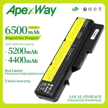 Apexway 11.1V  Laptop battery for Lenovo L09S6Y02 LO9L6Y02 for IdeaPad G460 G465 G470 G475 G560 G565 G570 G575 G770 Z460