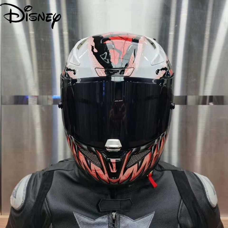 Disney Marvel Helmet Motorcycle Electric Vehicle Venom Three Generations Four Seasons Universal Cool Helmet Unisex Helmet
