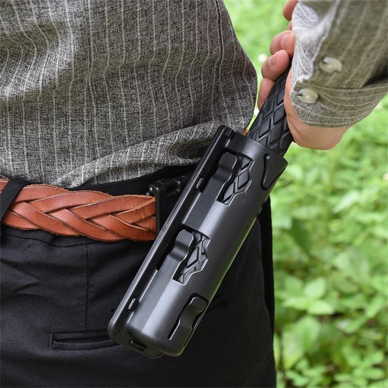 Universal 360 Degree Rotation Baton Case Holster Black Holder Self Defense Safety Outdoor Survival Kit EDC Tool