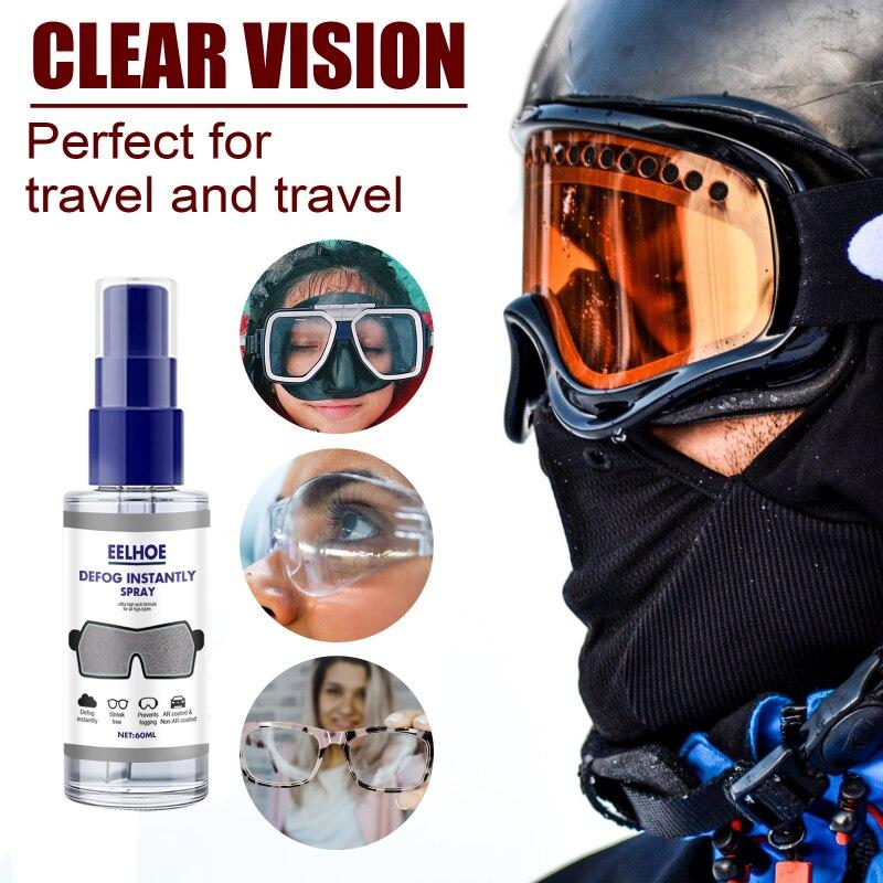 Antifogging Agent Car Windscreen Goggles Long Lasting Defogger 30/60ml Anti-Fog Spray Eyeglass Lens Cleaner