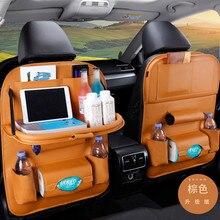 Sac à dos pliable de Table   Nouveau sac à dos de siège de voiture, organisateur de Table pliable Pad chaise de boisson, boîte de rangement de poche de voyage, rangement de accessoires automobiles