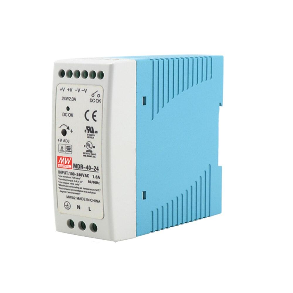 Sortie unique 40W 5V 12V 15V 24V 36V cc   Din Rail, commutation, alimentation électrique 85-264VAC/120-370VDC, sortie unique