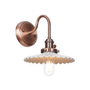 Vintage Industrial Wall Lamp Fixture Iron Ceramics Sconce E27 4W LED Edison Bulb Wall Light Bedroom Applique Murale Luminaire