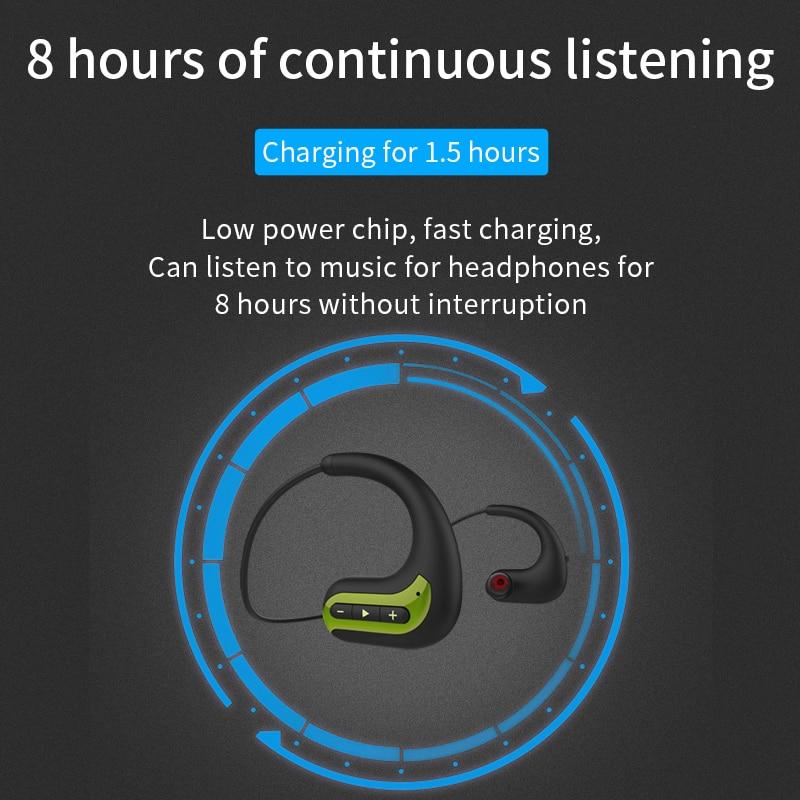 Wireless headphones Bluetooth Earphones 8GB IPX8 Waterproof MP3 Music Player Swimming Diving Sport Headset For Huawei
