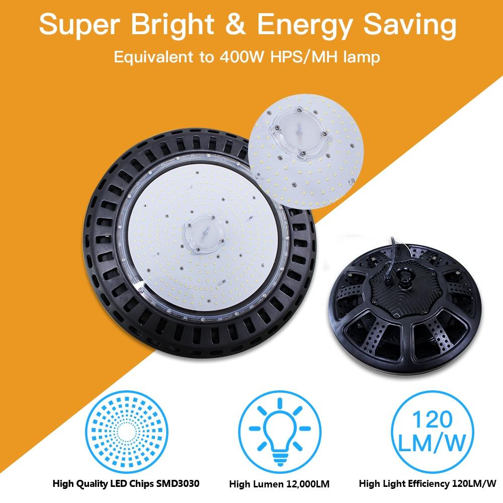 UFO LED High Bay Lights 100W Waterproof IP65 Industrial Lighting Solutions