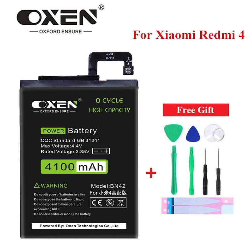 OXEN-Batería de repuesto BN42 para Xiaomi Redmi 4, batería de repuesto de...