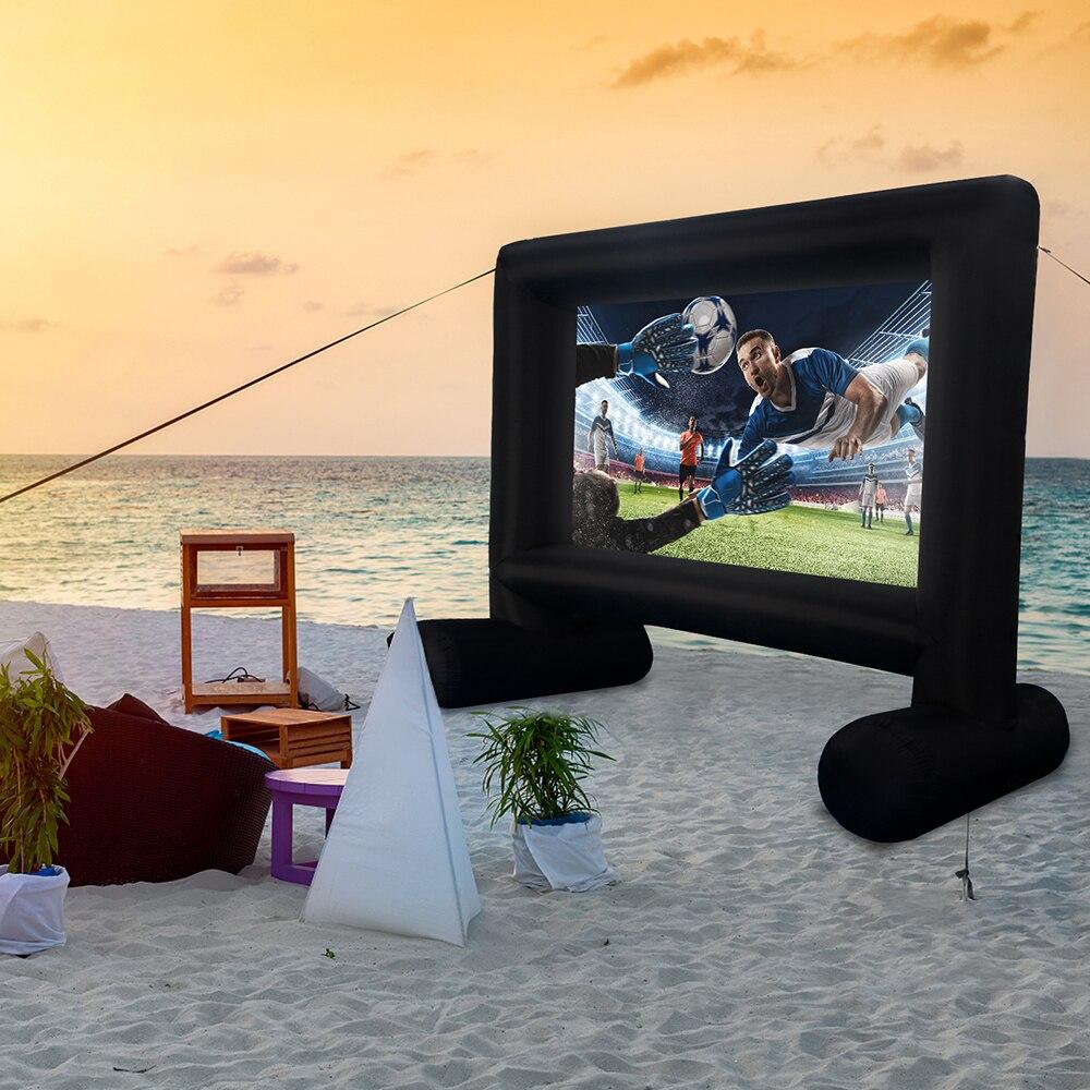 Высококачественный надувной наружный проектор, экран для фильмов, раздувной экран для проектора Мега, экран для кинотеатра, домашнего кино...