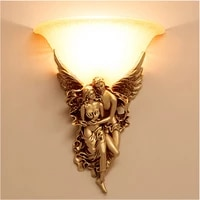 european style couple wall lamp bedroom living room tv background led wall lamp wall decoration e14