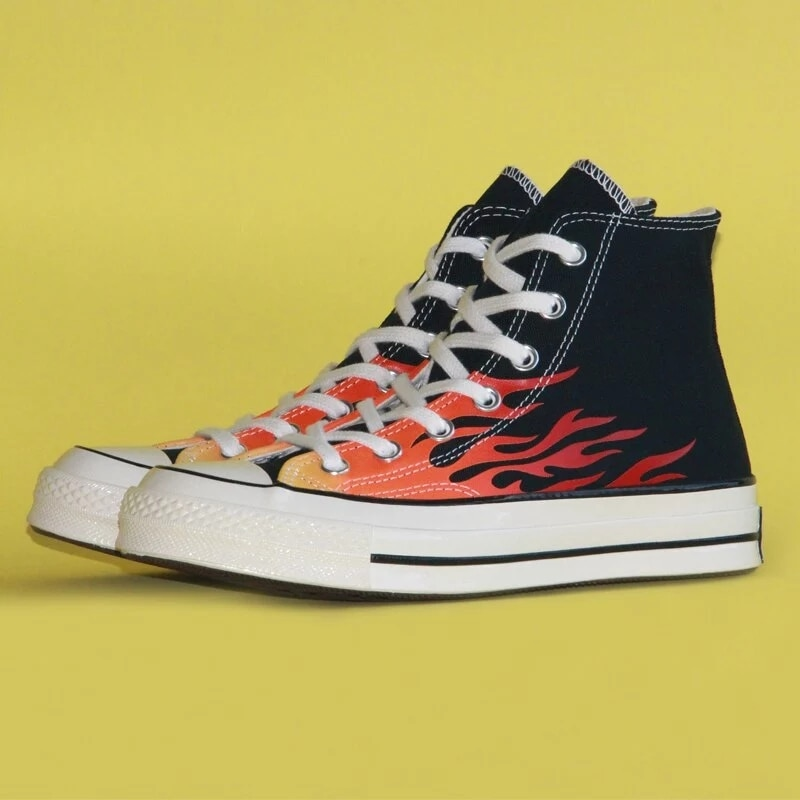 Converse estrella-Zapatillas deportivas para hombre y mujer y calzado rojo para monopatín...