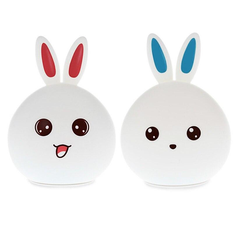 Led Rabbit Night Light USB for Children Baby Kids Gift Animal Cartoon Decorative Lamp Bedside Bedroom Living Room enlarge