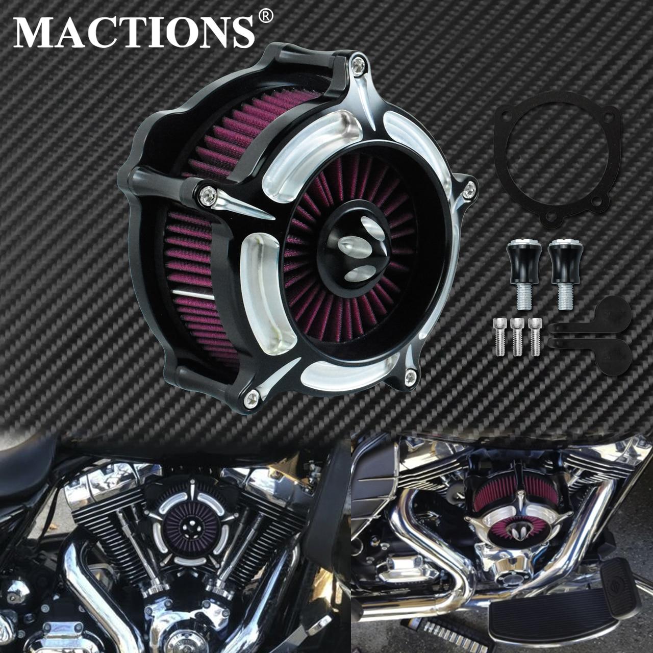 Motocicleta CNC rojo aire filtro del aire para Harley Sportster XL883 1200 Dyna calle Bob Super Glide Softail gira Road king