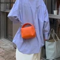 women soft leather shoulder hobos bag orange handbags ladies chain crossbody bag luxury totes purse daily clutches beige
