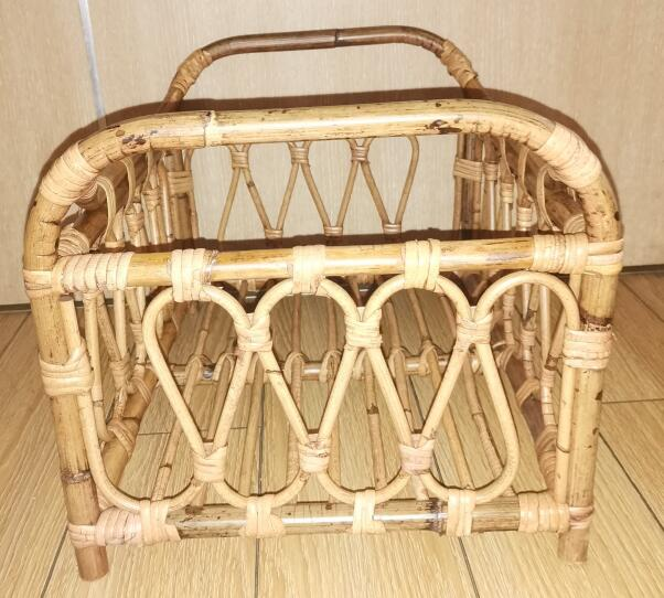 Baby Props Vintage Woven Rattan Basket Newborn 100 Days Photography Props Baskets Baby Posing Sofa Bed Accessoire Shooting Props enlarge