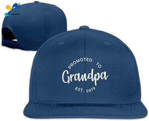 Yellowpods Promoted To Grandpa Men's Relaxed Medium Profile Adjustable Baseball Cap
