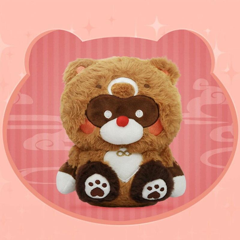 Игра Genshin Impact XiangLing Guoba енот медведь плюшевая кукла мягкие куклы Мультяшные плюшевые игрушки реквизит для косплея коллекция