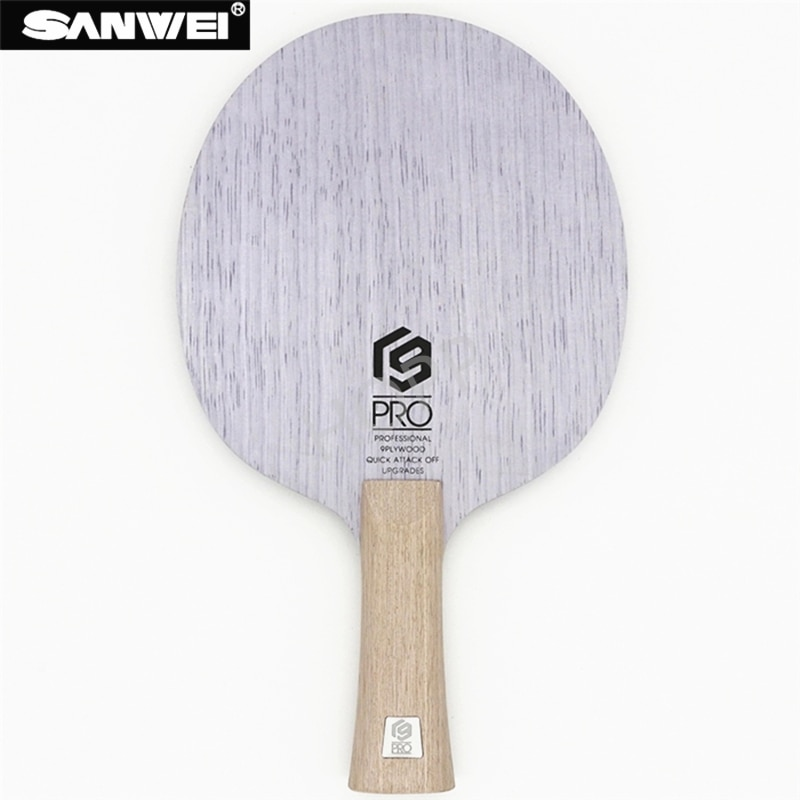 SANWEI Table Tennis Blade V9 PRO 9 ply pure wood All-around pips-long ping pong racket bat paddle
