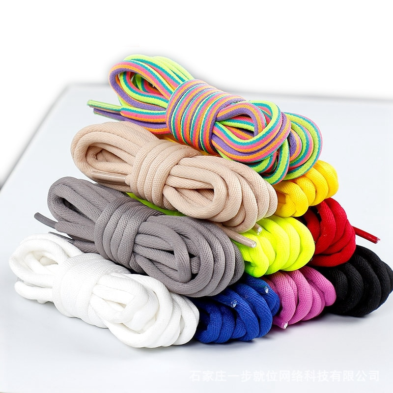 New Round Shoelaces Solid Rainbow Classic Martin Boot Shoelace Casual Sports Boots shoes Lace Sneake