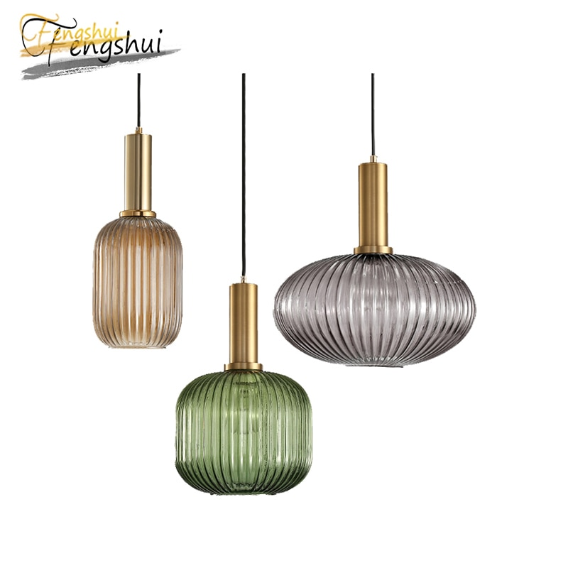 Nordic LED Glass Pendant Lamp Lighting Modern Wrought Iron Home Decoration Pendant Lights for Attic Dining Room Hanging Lamp enlarge
