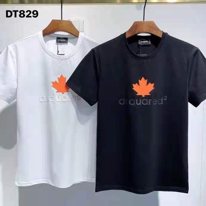 الرجال DSQ2 الصيف موضة تي شيرتات قصيرة الاكمام الشارع الشهير ملابس علوية DT829