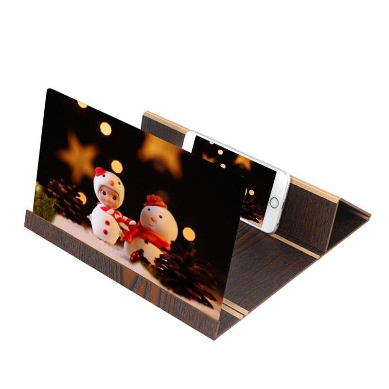 Soporte de madera amplificadora estereoscópica de 12 pulgadas soporte de pantalla plegable para teléfono _ WK