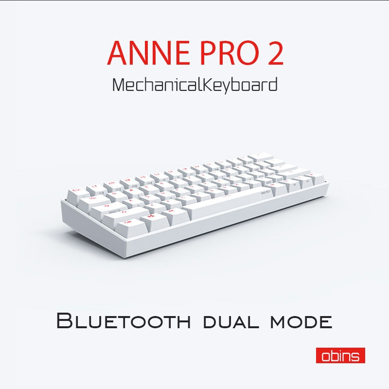 Review Anne Pro 2 Pro2 NKRO Bluetooth 5.0 Type-C RGB 60% Mini Mechanical Gaming Keyboard Cherry Gateron Kailh Red Brown Switch Keyboard