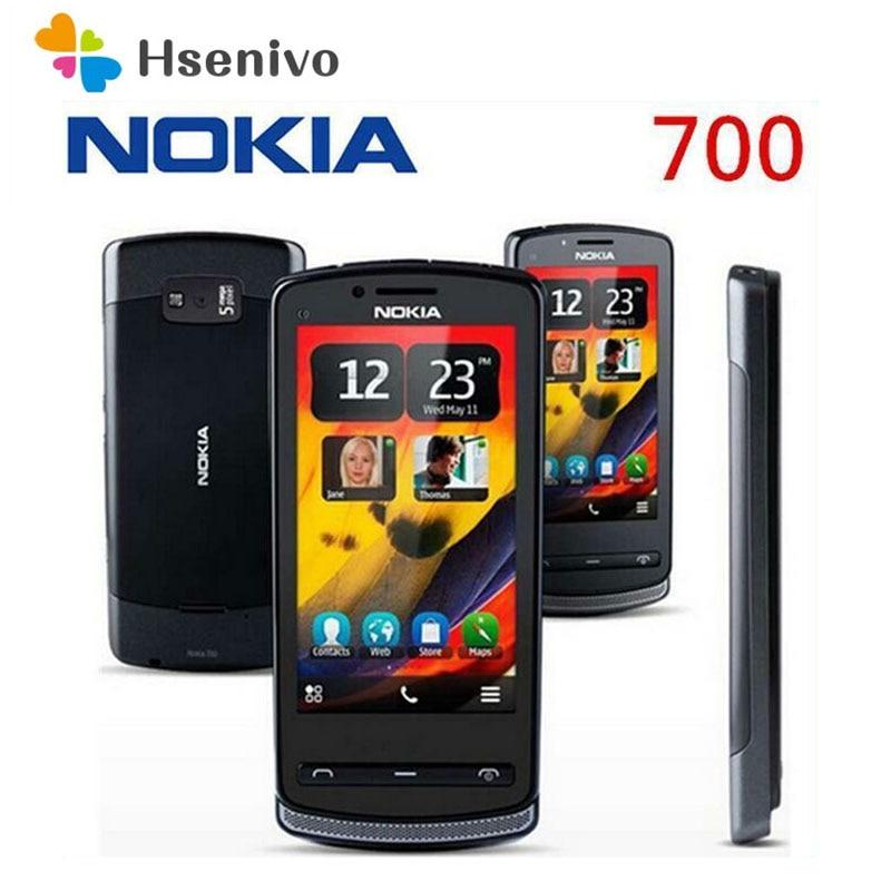 هاتف Nokia 700 المجدد الأصلي غير المغلق هاتف Nokia N700 3.2 '5.0mp هاتف WIFI نظام تحديد المواقع 512RAM + 1GB ROM شحن مجاني