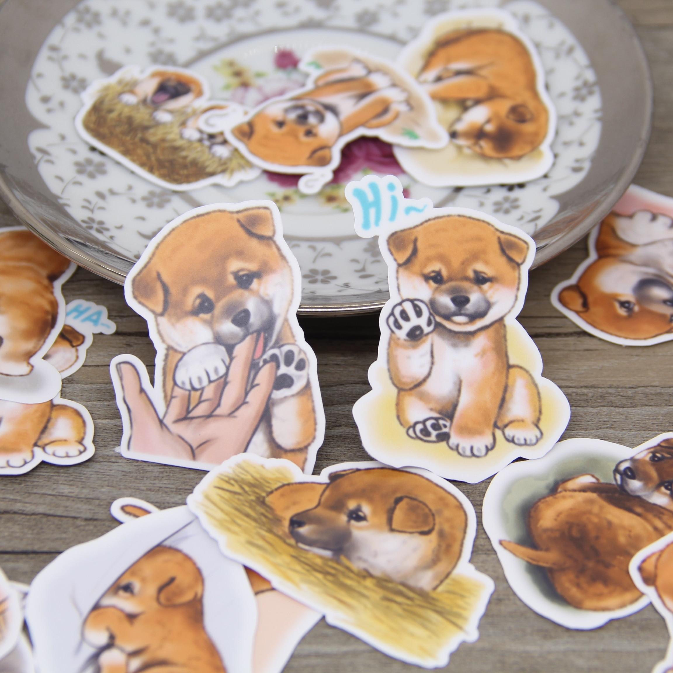 Pegatina impermeable de cachorro para niños, paquete de pegatinas para álbum de...