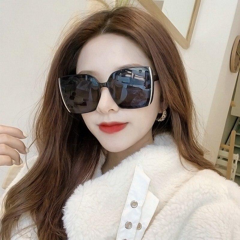 Vintage Square Big frame Sunglasses Women Oversized UV400 Sunglasses Men Retro Black Luxury Sun Glas