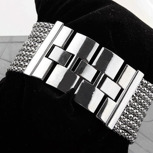 2018 Latest New Fashion Quartz Women's Silver Tone Band Rhinestone Bangle Bracelet Watch  6T4T enlarge
