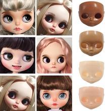 Модная Кукла Besegad 16, Лицевая панель + Задняя головка + винты для кукол Blyth, аксессуары для смены лица своими руками