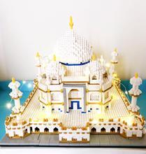 4019 шт микро маленькие частицы алмазные строительные блоки обучающая игрушка для взрослых Тадж-Махал архитектурная модель для блочных игрушек