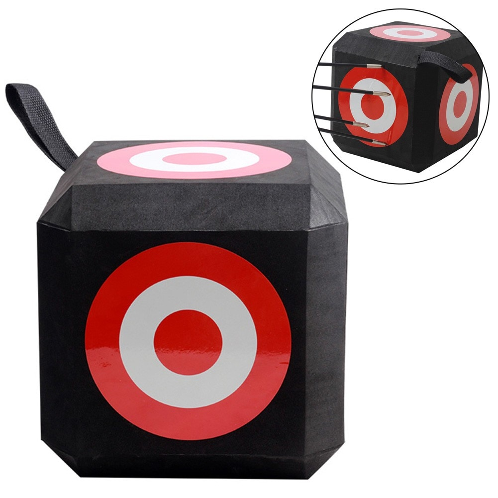 1pcs EVA Archery Training 3D Block Target With Handle Cube Self Recovery Hunting Practice Targets Shooting Accessory 12x12x26cm