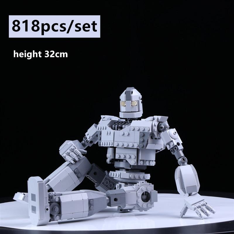 New MOC Robot The Iron Robot Giant Fit LeGINGlys Technic City Figures Voltron Model Building Blocks Bricks Kids Toys Boy Gifts