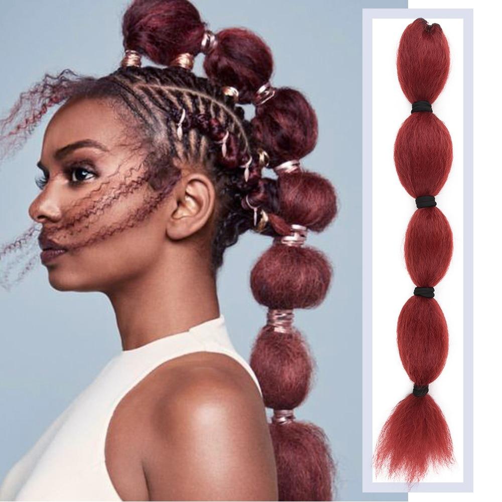 Peluca Afro rizada recta de alta calidad con cordón de cola de caballo de burbuja con cordón en la cola de Pony con extensiones de moño de pelo sintético de 22 pulgadas