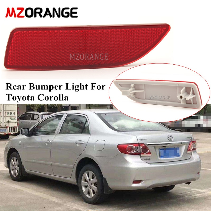 Red Rear Reflector Light For Toyota Corolla 2010 2011 2012 2013  Rear Bumper Light Fog Lamp Car Parts 8191002130 TO1185102