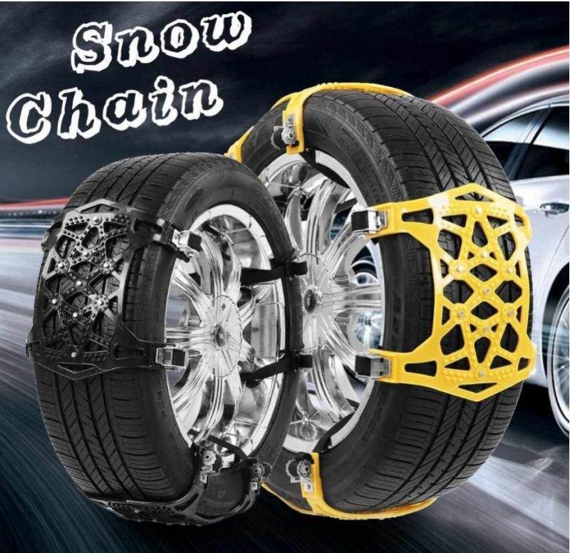1/3/6pcs/set Car Tyre Winter Roadway Safety Tire Snow Adjustable Anti-skid Safety Double Snap Skid Wheel TPU Thicken Chains