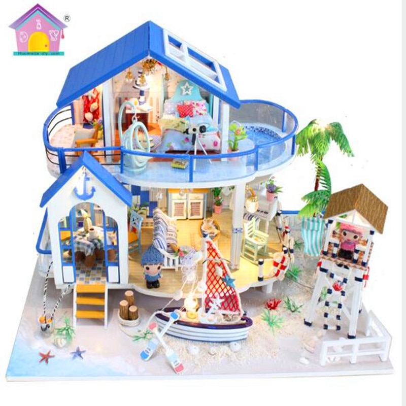 Casa de diy para muñecas, casa de muñecas grande en miniatura, poppenhuizen, casa de muñecas en miniatura, muebles, casa de muñecas de madera, juguete