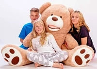 stuffed animals giant teddy bear large 100 160 cm light brown plush toy soft and cute stuffed teddy bear