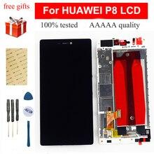 Para HUAWEI P8 pantalla LCD para HUAWEI P8 LCD pantalla táctil digitalizador Sensor montaje GRA L09 gra-l09 gra-ul10 Marco de repuesto