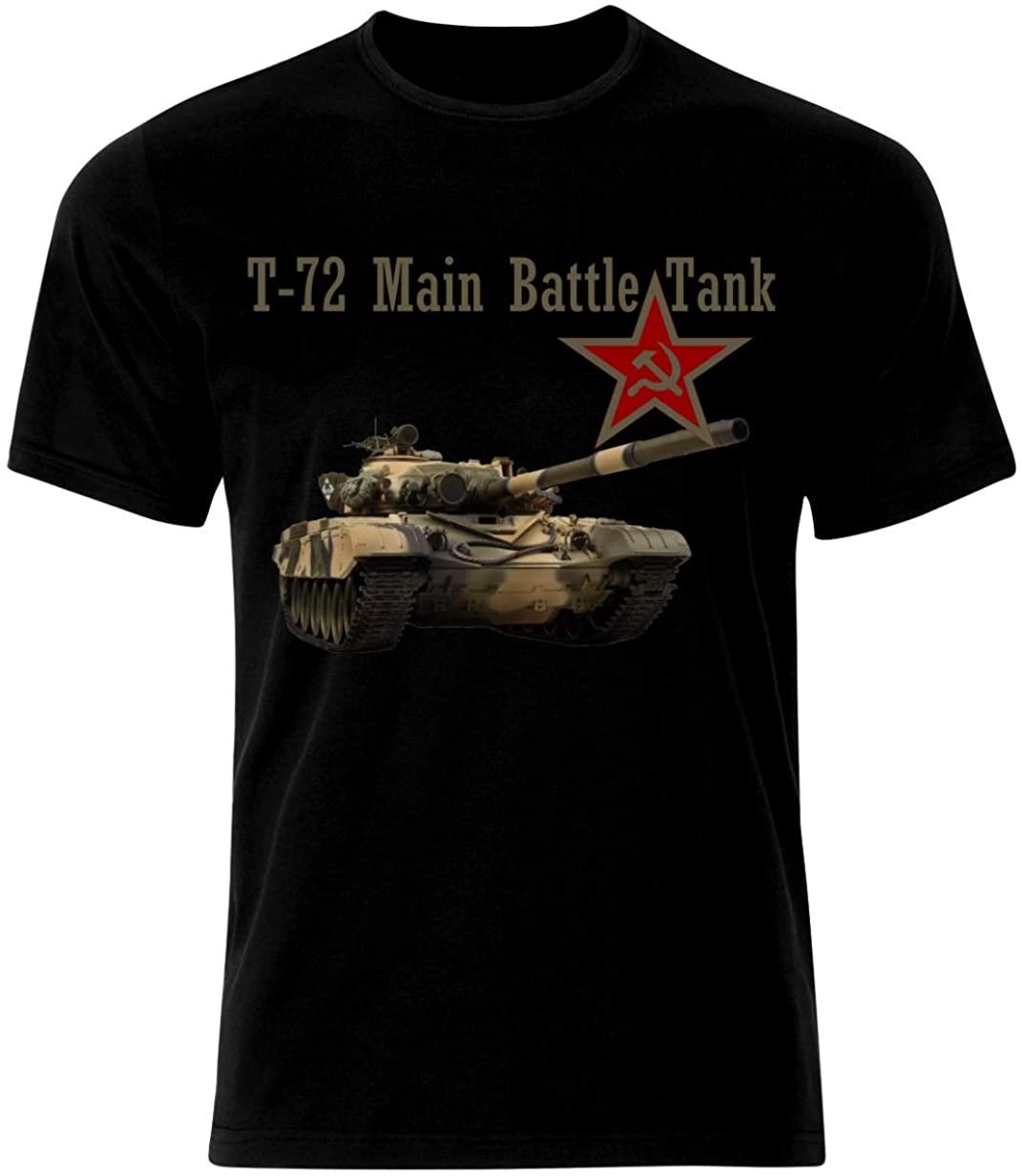 T-72 tanque de batalha principal t-camisa soviética guerra fria equipamento militar algodão o pescoço manga curta t camisa masculina novo tamanho S-3XL