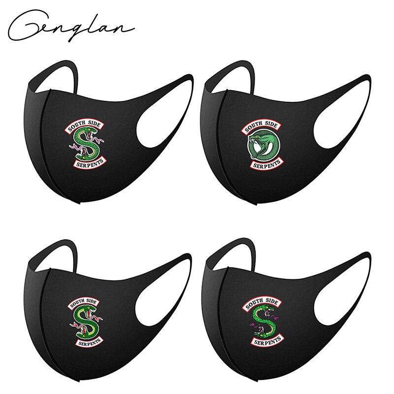 2020 Cotton Riverdale Mask Green Snake Masks Reusable Washable South Side Serpents Cosplay Mouth masque
