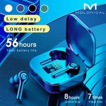 56 HOURS LONG Battery Wireless Bluetooth V5.1 Earphone Colorful Wireless Headphone HIFI Stereo Earbu