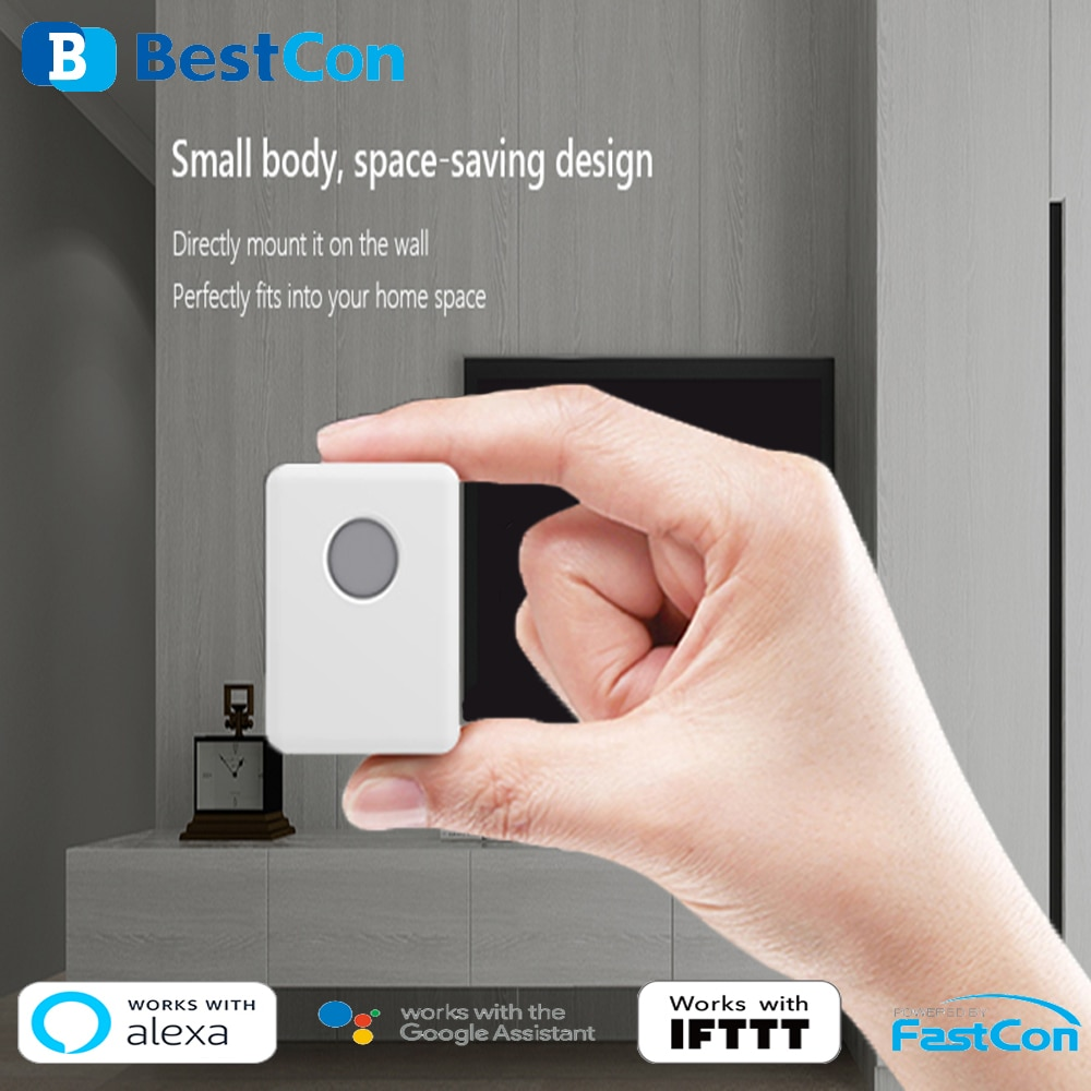 Nuevo BroadLink BestCon SCB1E Universal inalámbrico Wifi Control temporizador interruptor de pared inteligente domótica con Alexa Google asistente