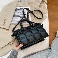 messenger bag elegant female plaid tote bag 2021 fashion new high quality pu leather women designer handbag vintage shoulder