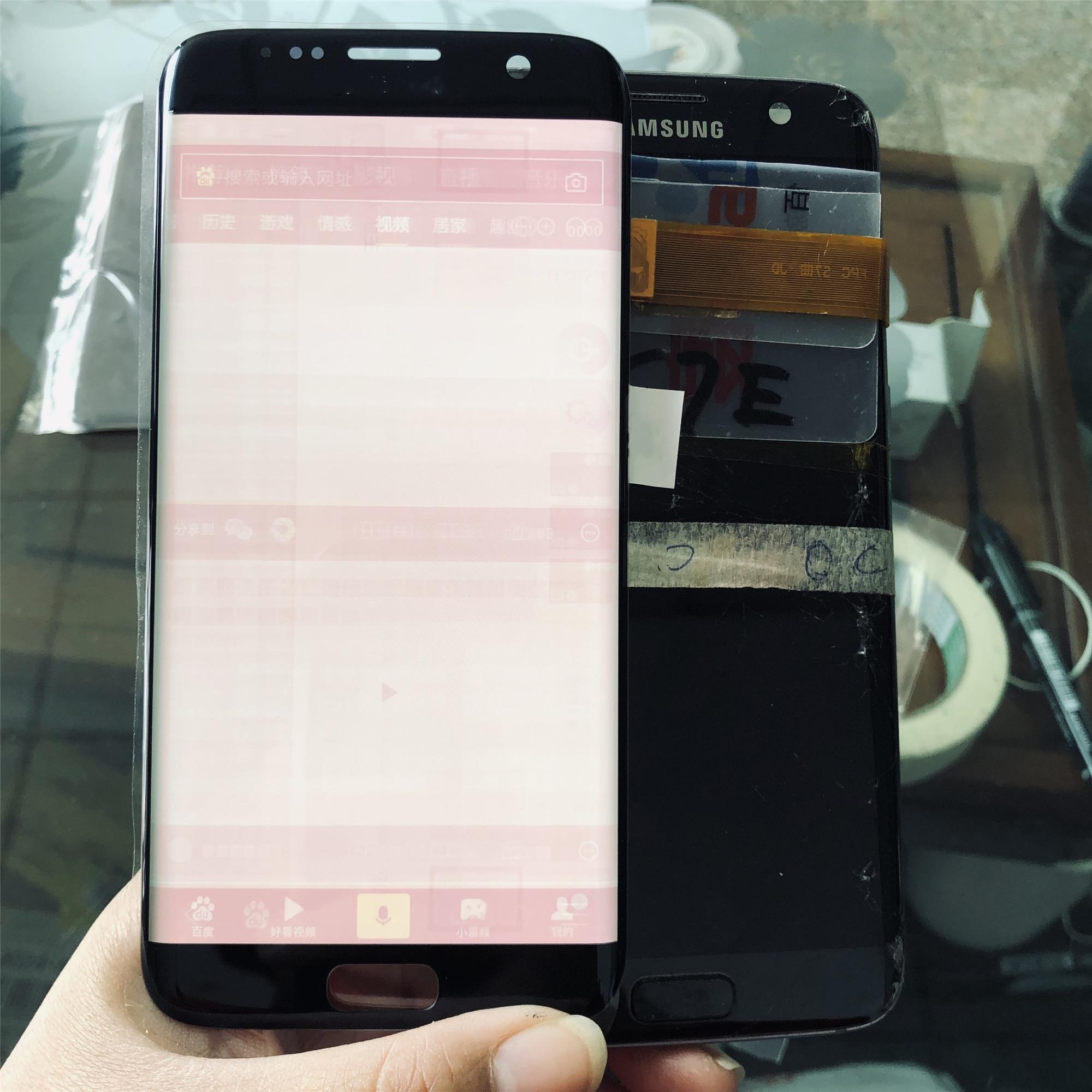 SUPER AMOLED, pantalla LCD de 5,5 pulgadas para SAMSUNG Galaxy S7 edge, pantalla G935F SM-G935FD, digitalizador de pantalla táctil, piezas de montaje, gran sombra de fuego