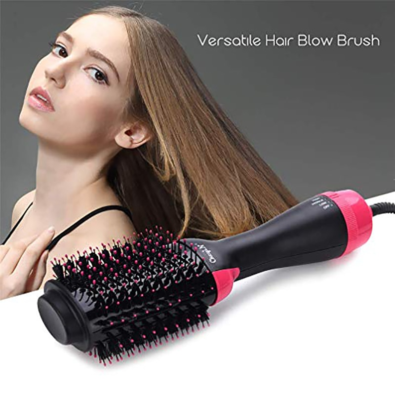 hot sale new professional hot air blower electric water heater quick and convenient beauty brush one step hair dryer and style Hair Dryer Brush Air Atyling Brush Hair Straightener Dryer One-Step Straightening Hot Air Brush  Dryer And Plumper Dryer comb